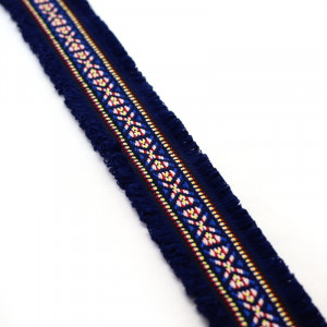 Fita Étnica  4.5cm – Azul Escuro