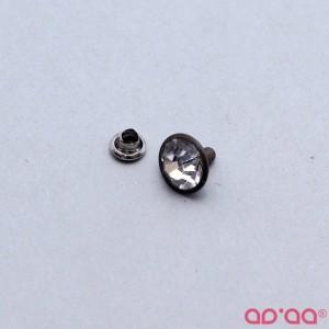 Botão Rápido Brilhante 10mm – Bronze