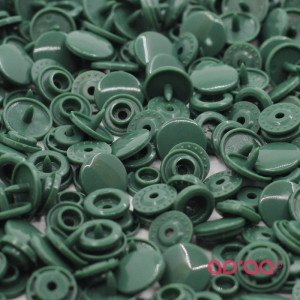 Molas Kam Redondas 12mm Verde Escuro