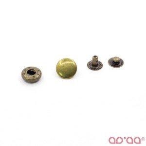 Botão Pressão Bronze 12mm