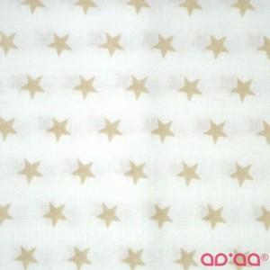 Cream big stars in white
