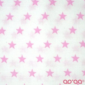 Pink big stars in white
