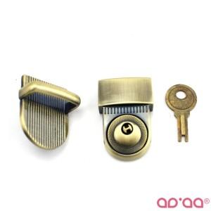Fecho com chave 26mm – Bronze