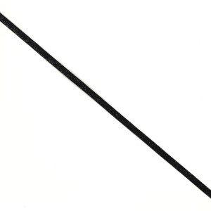 Fita Veludo 1 cm com Brilhantes - Preto