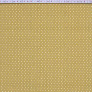 Tecido Cambraia com Estrelas em Branco com Fundo Amarelo Torrado