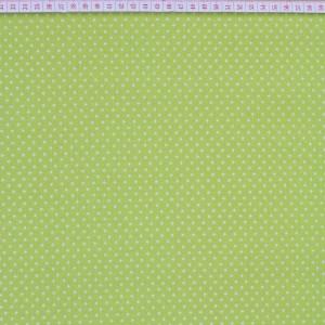 Tecido Cambraia com Estrelas em Branco com Fundo Verde Claro Alface