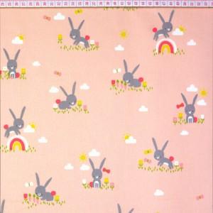 Cute Rabbits Salmão Claro