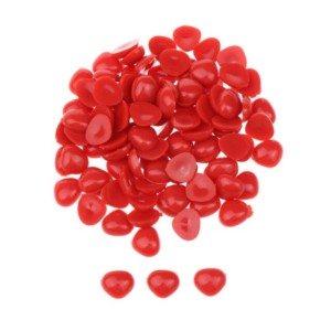 Nariz de bonecos vermelho triângular para colar 6X8mm