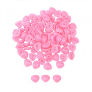 Nariz de bonecos rosa triângular para colar 11X14mm