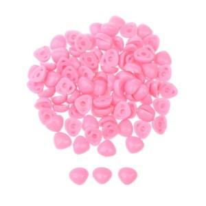Nariz de bonecos rosa triângular para colar 12X15mm