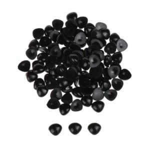 Nariz de bonecos preto triângular para colar 12X15mm